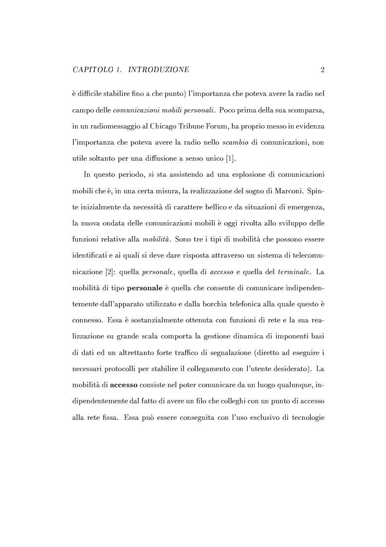 Anteprima della tesi: Caratterizzazione della probabilità di fuori servizio in una rete radiomobile cellulare, Pagina 6