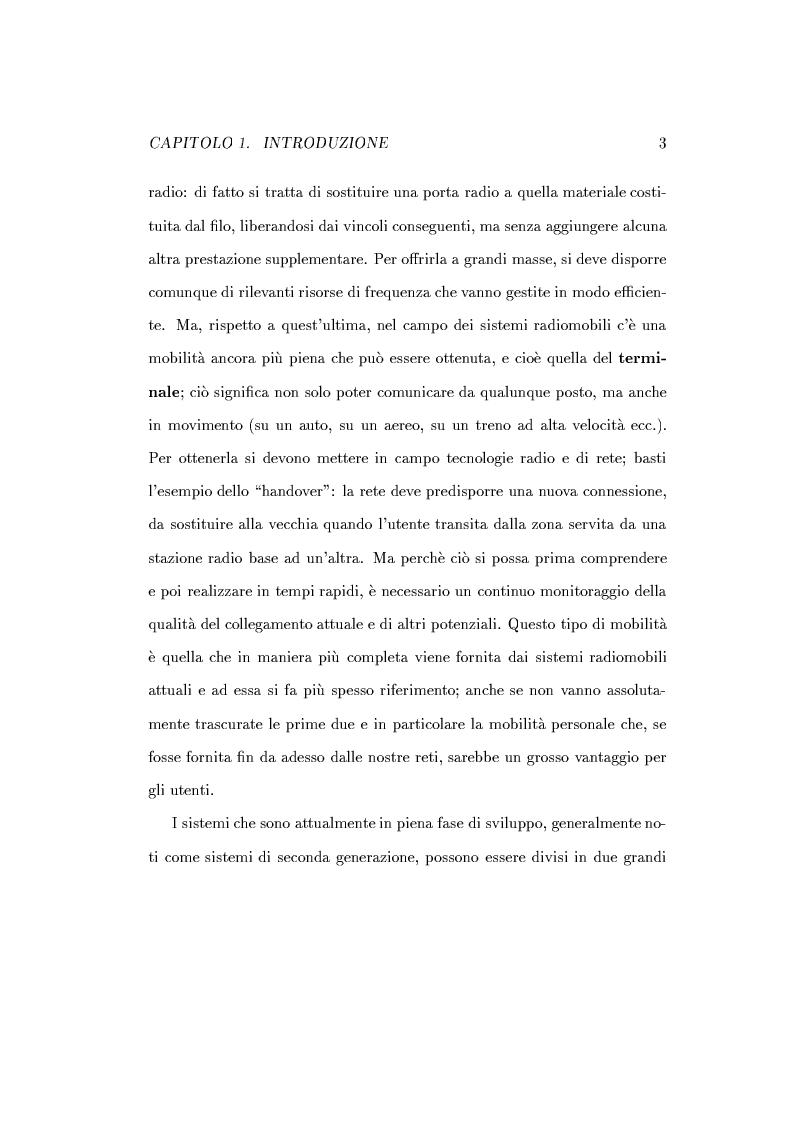 Anteprima della tesi: Caratterizzazione della probabilità di fuori servizio in una rete radiomobile cellulare, Pagina 7