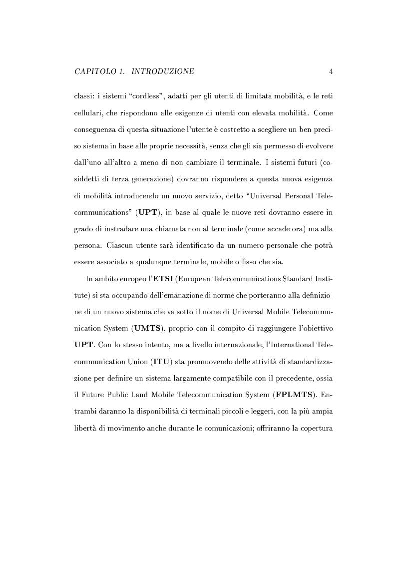 Anteprima della tesi: Caratterizzazione della probabilità di fuori servizio in una rete radiomobile cellulare, Pagina 8