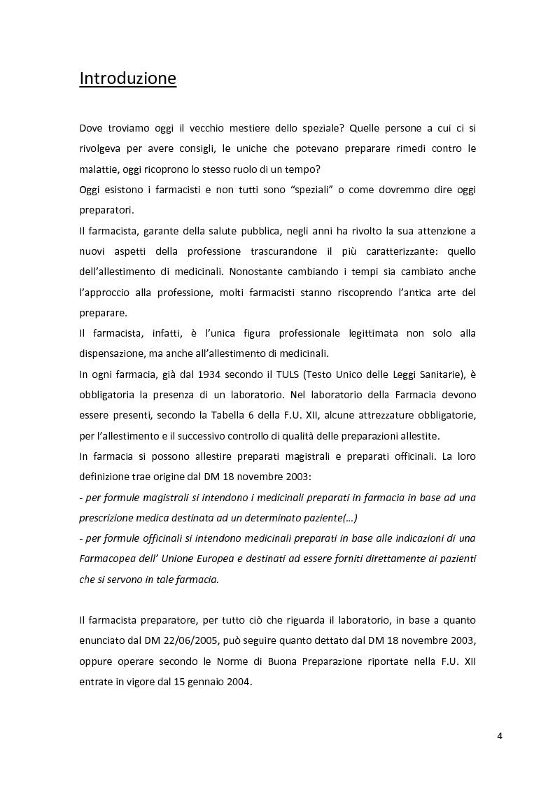 Anteprima della tesi: Fitopreparazione in farmacia: allestimento, controllo di qualità e studio di stabilità, Pagina 2