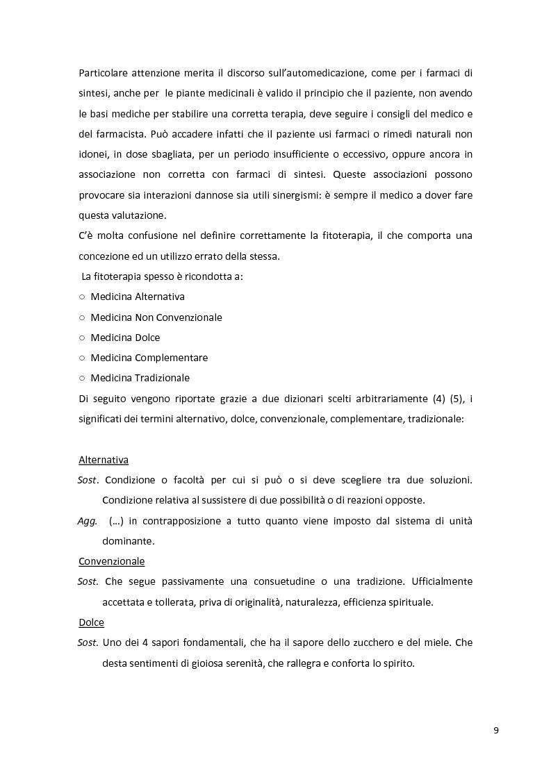 Anteprima della tesi: Fitopreparazione in farmacia: allestimento, controllo di qualità e studio di stabilità, Pagina 7