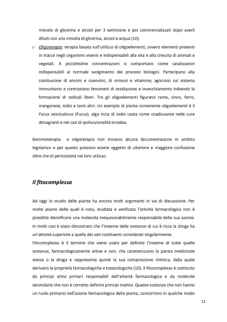 Anteprima della tesi: Fitopreparazione in farmacia: allestimento, controllo di qualità e studio di stabilità, Pagina 9