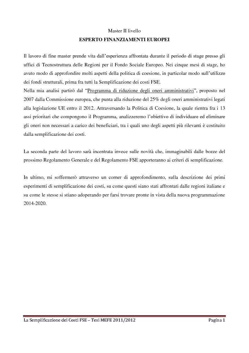 La semplificazione dei costi del fondo sociale europeo for Nascondi esperto