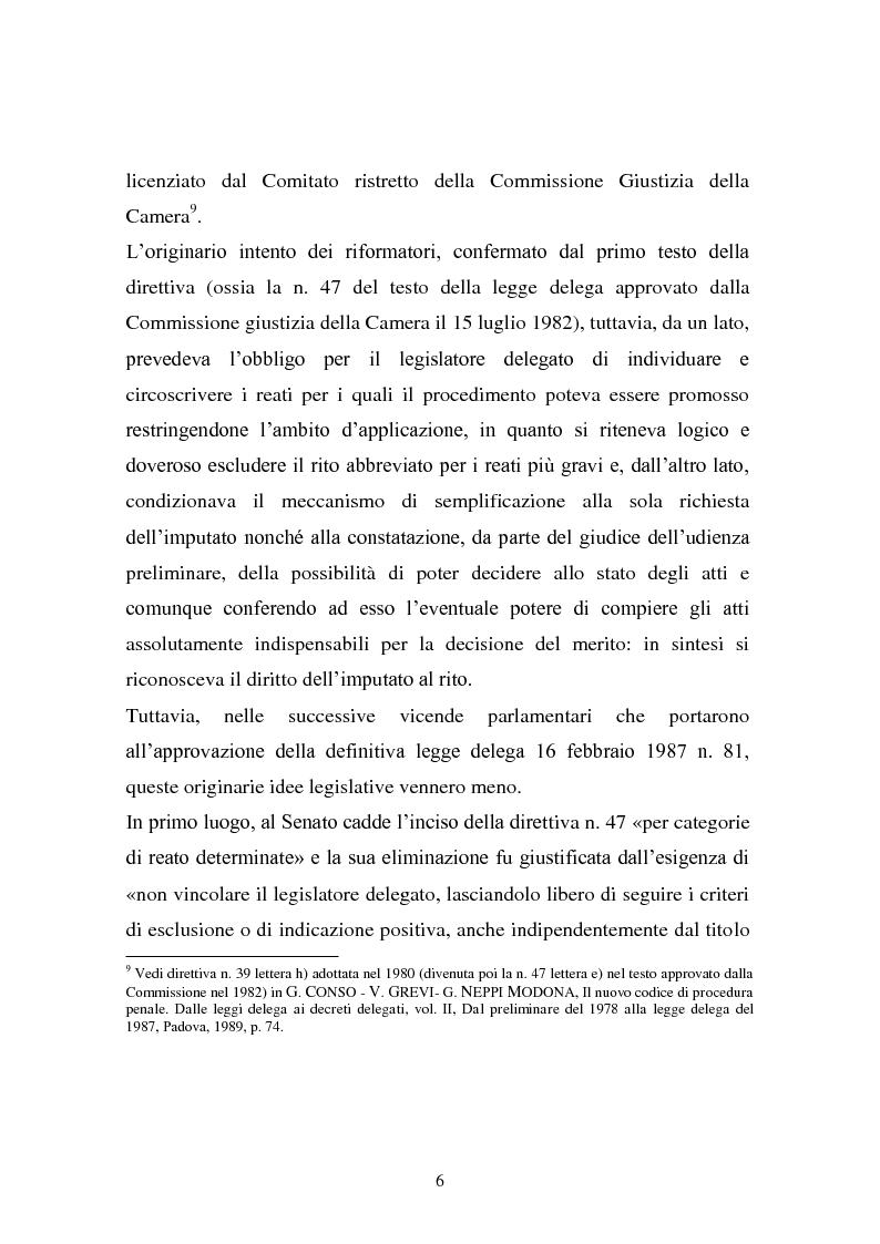 Anteprima della tesi: Il rito abbreviato. Evoluzione dalla legge Carotti ad oggi, Pagina 5