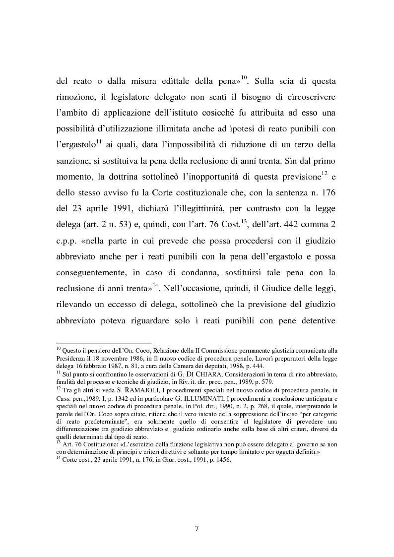 Anteprima della tesi: Il rito abbreviato. Evoluzione dalla legge Carotti ad oggi, Pagina 6
