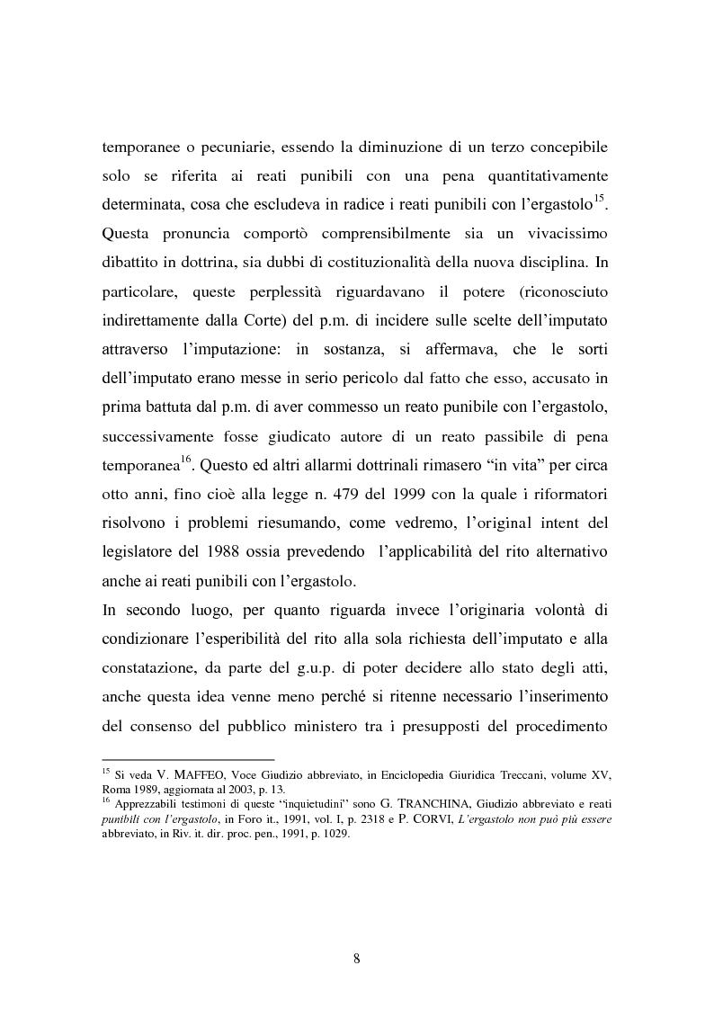 Anteprima della tesi: Il rito abbreviato. Evoluzione dalla legge Carotti ad oggi, Pagina 7