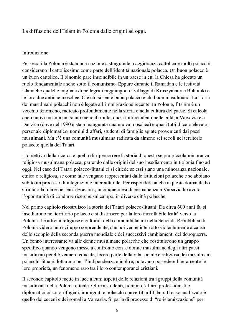 Anteprima della tesi: La diffusione dell'Islam in Polonia dalle origini ad oggi., Pagina 2