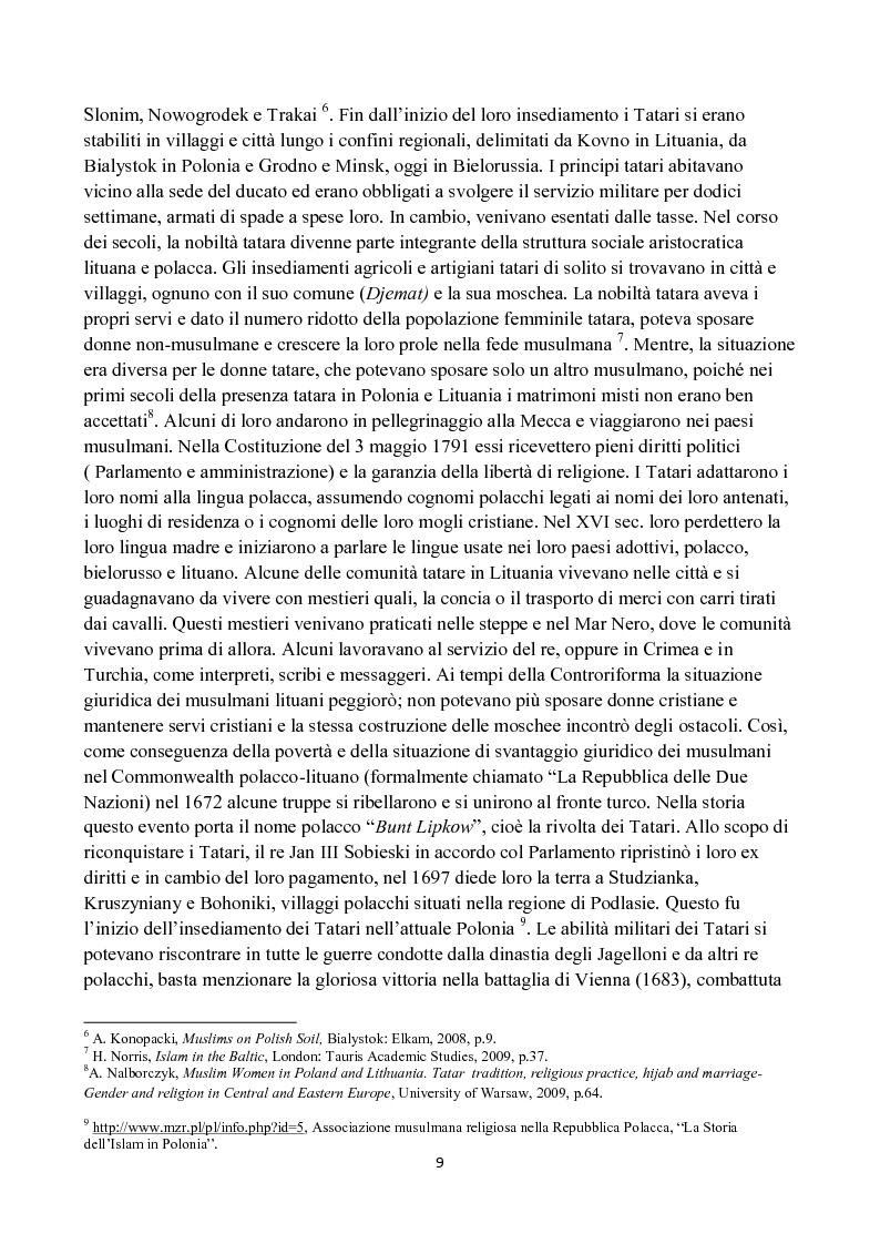 Anteprima della tesi: La diffusione dell'Islam in Polonia dalle origini ad oggi., Pagina 5