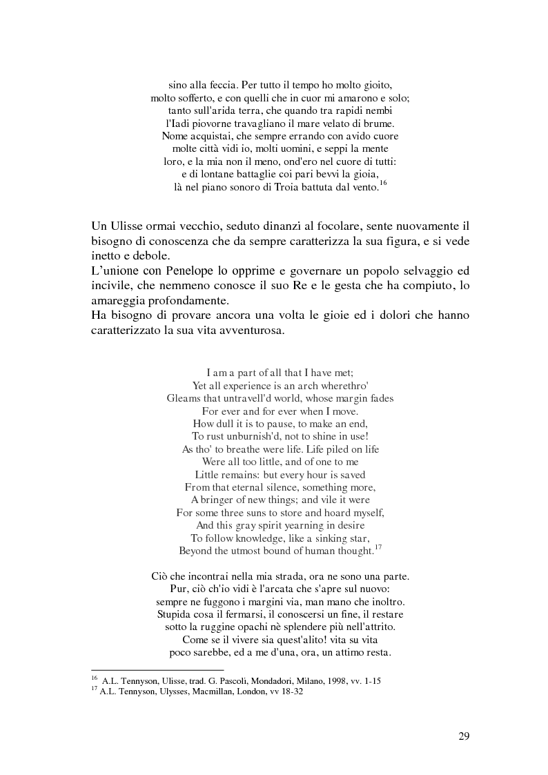 Estratto dalla tesi: L'Ulisse omerico da Dante a Tennyson