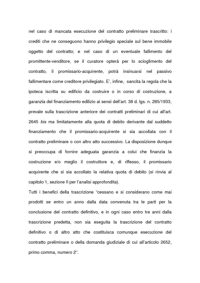 Anteprima della tesi: I contratti relativi ad edifici in corso di costruzione: preliminare di vendita, vendita di cosa futura, appalto, Pagina 10
