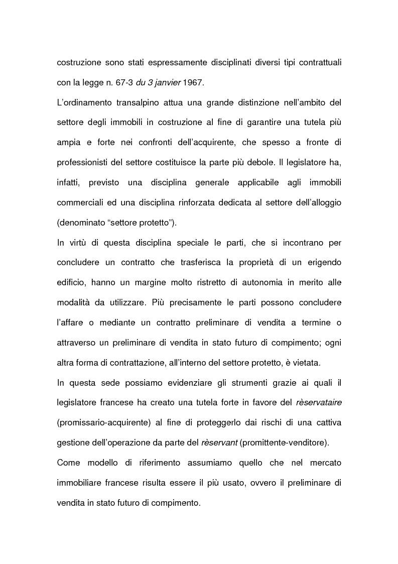 Anteprima della tesi: I contratti relativi ad edifici in corso di costruzione: preliminare di vendita, vendita di cosa futura, appalto, Pagina 2