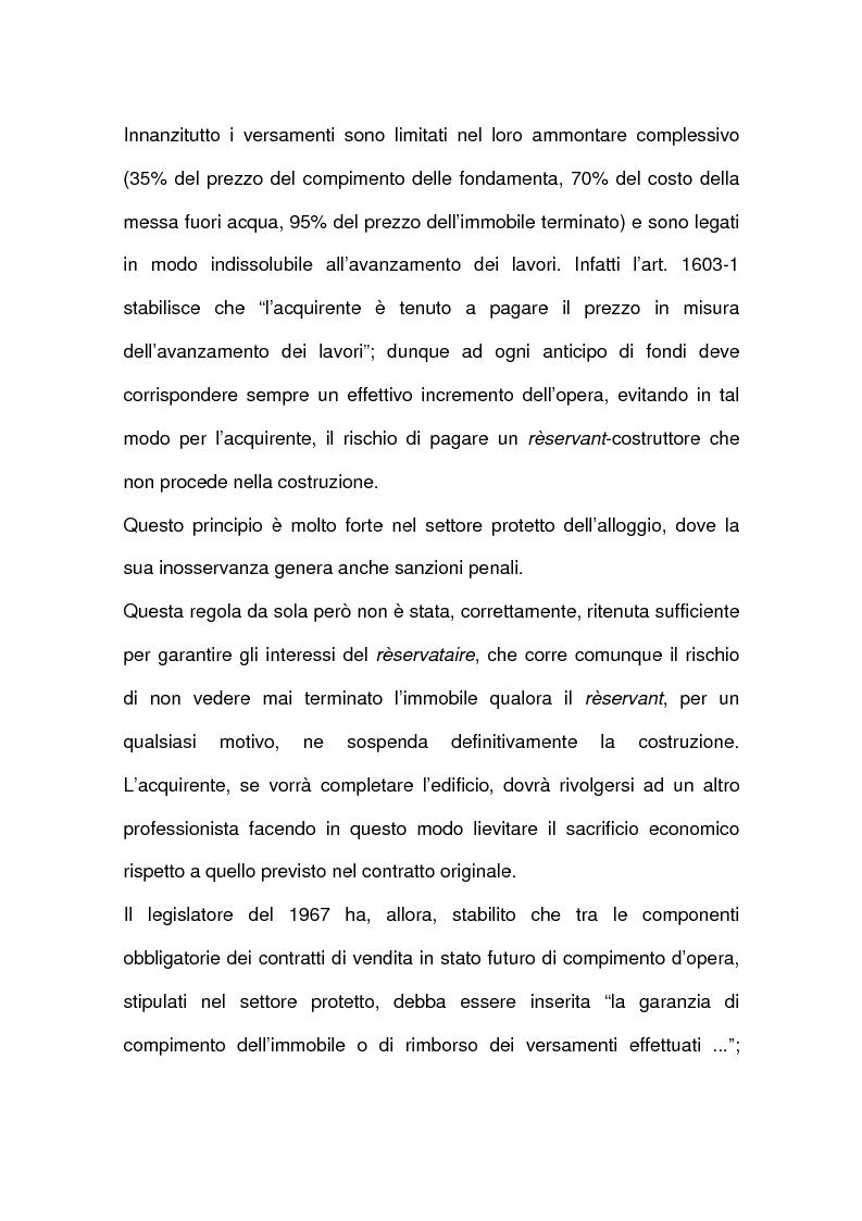 Anteprima della tesi: I contratti relativi ad edifici in corso di costruzione: preliminare di vendita, vendita di cosa futura, appalto, Pagina 4