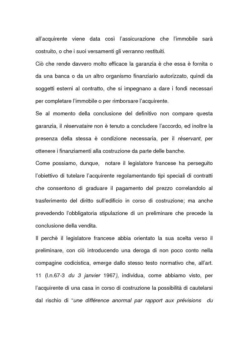 Anteprima della tesi: I contratti relativi ad edifici in corso di costruzione: preliminare di vendita, vendita di cosa futura, appalto, Pagina 5