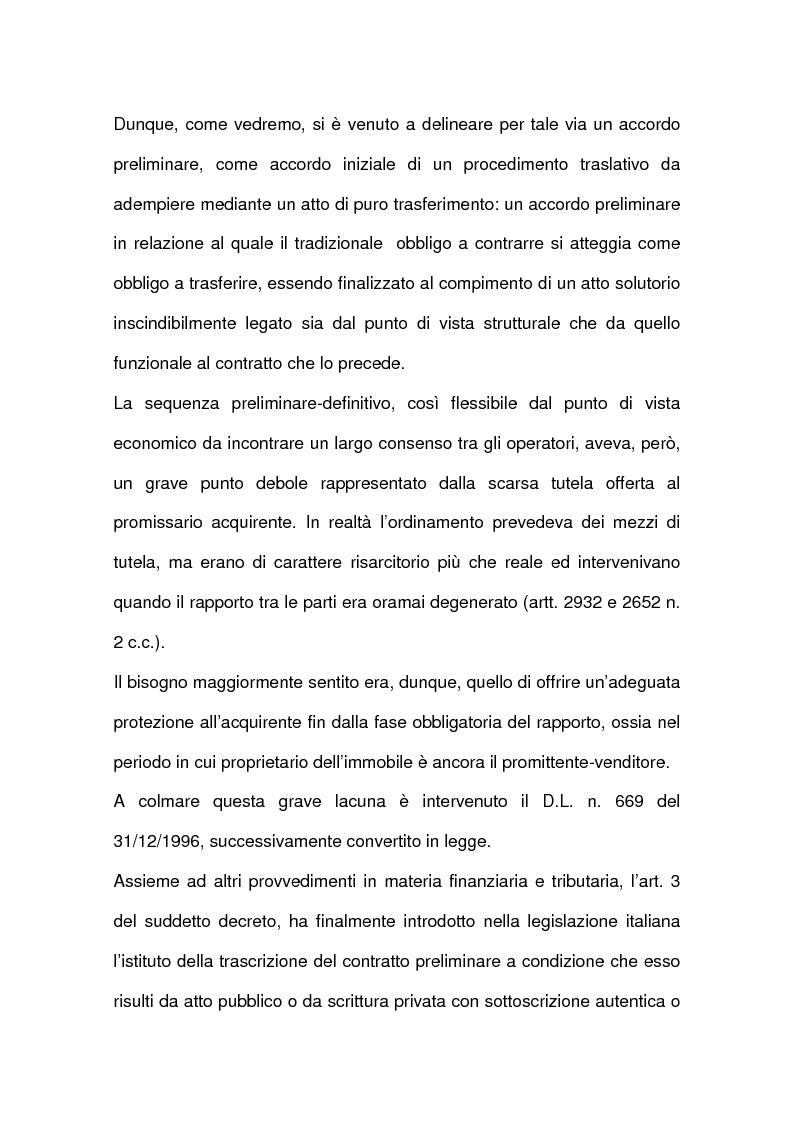 Anteprima della tesi: I contratti relativi ad edifici in corso di costruzione: preliminare di vendita, vendita di cosa futura, appalto, Pagina 8