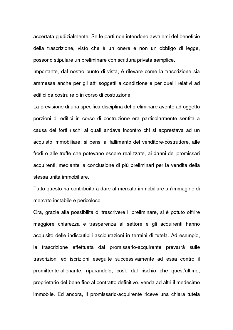 Anteprima della tesi: I contratti relativi ad edifici in corso di costruzione: preliminare di vendita, vendita di cosa futura, appalto, Pagina 9