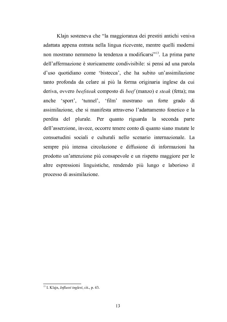 Anteprima della tesi: Prestiti di lusso e falsi anglicismi nei periodici femminili italiani, Pagina 14