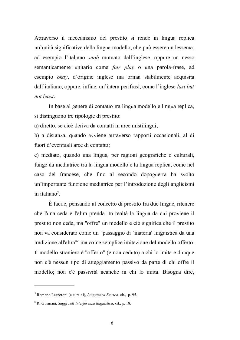 Anteprima della tesi: Prestiti di lusso e falsi anglicismi nei periodici femminili italiani, Pagina 7