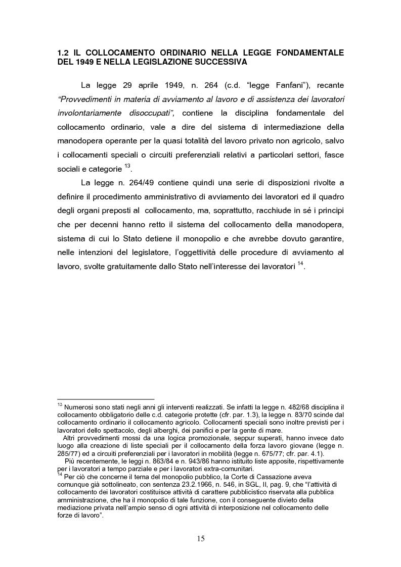 Anteprima della tesi: Il reinserimento lavorativo dei soggetti in stato di disagio sociale, Pagina 11