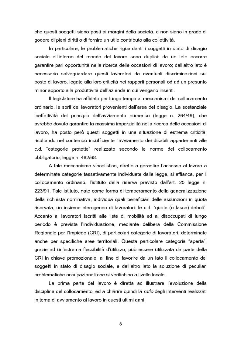 Anteprima della tesi: Il reinserimento lavorativo dei soggetti in stato di disagio sociale, Pagina 2