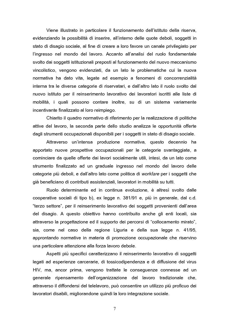 Anteprima della tesi: Il reinserimento lavorativo dei soggetti in stato di disagio sociale, Pagina 3