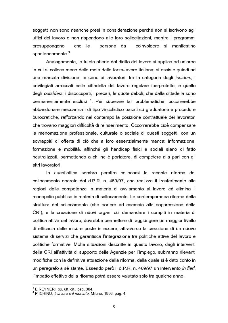 Anteprima della tesi: Il reinserimento lavorativo dei soggetti in stato di disagio sociale, Pagina 5