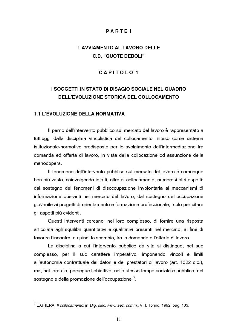 Anteprima della tesi: Il reinserimento lavorativo dei soggetti in stato di disagio sociale, Pagina 7