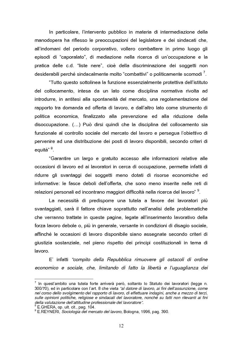 Anteprima della tesi: Il reinserimento lavorativo dei soggetti in stato di disagio sociale, Pagina 8