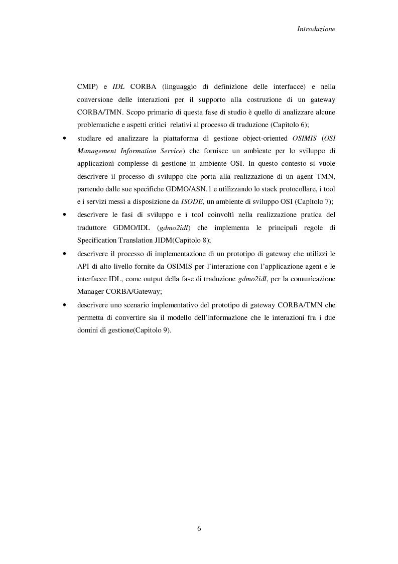 Anteprima della tesi: Gestione da manager Corba di agenti Cmip e Snmp, Pagina 3