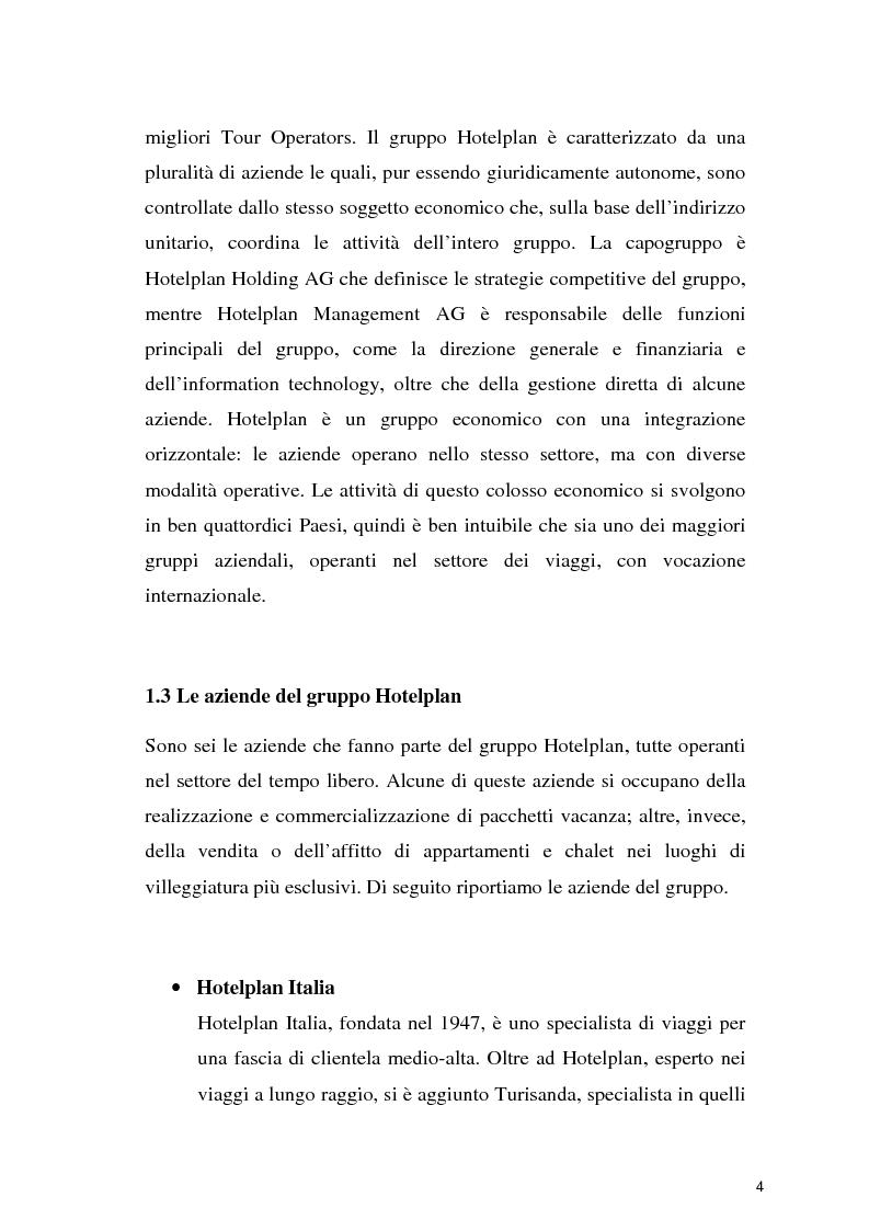 Anteprima della tesi: Il turismo sostenibile: l'esperienza del gruppo Hotelplan, Pagina 5