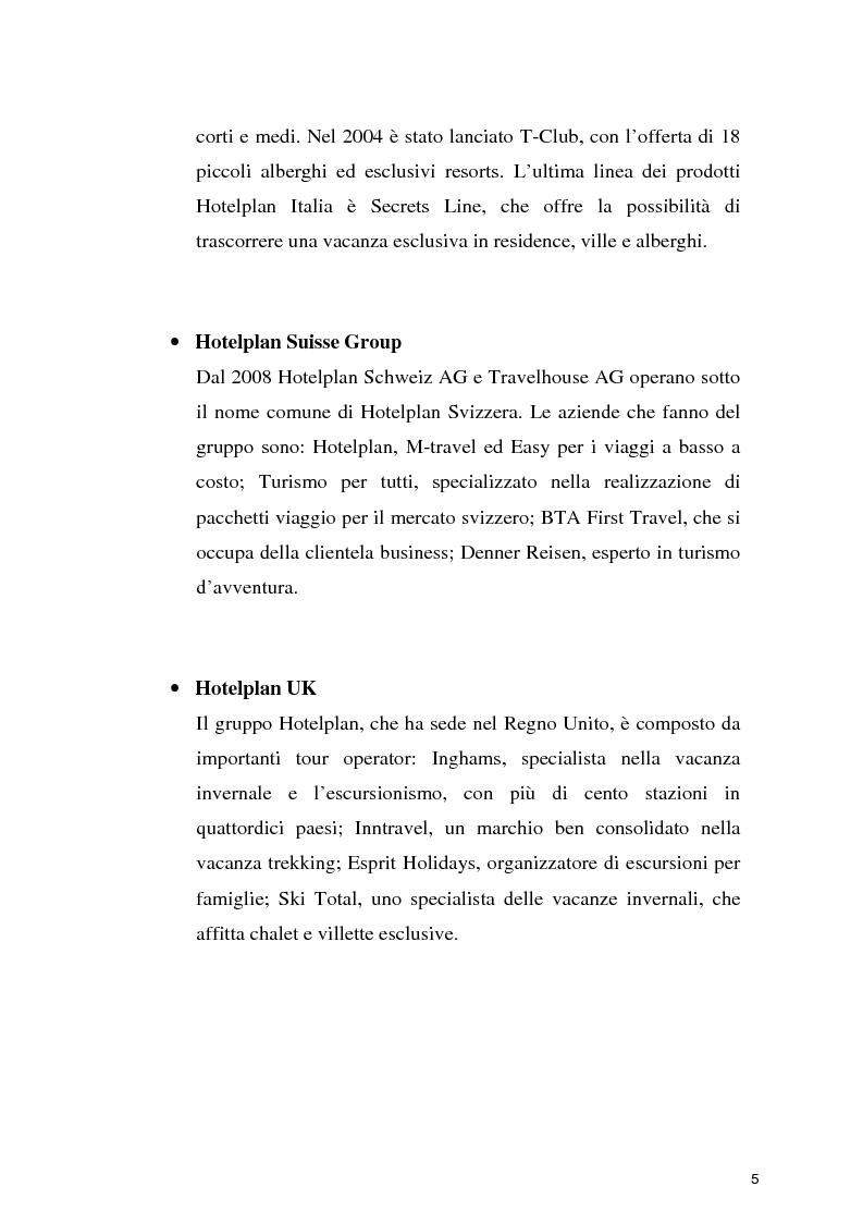 Anteprima della tesi: Il turismo sostenibile: l'esperienza del gruppo Hotelplan, Pagina 6