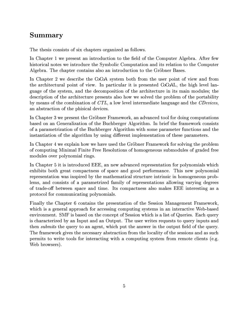 Anteprima della tesi: The Design of the CoCoA 3 System, Pagina 2