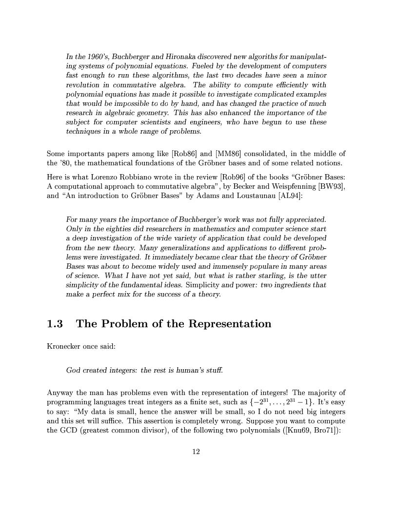 Anteprima della tesi: The Design of the CoCoA 3 System, Pagina 9