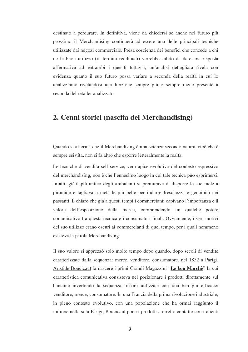 Estratto dalla tesi: Mechandising, punto di forza di Unicoop Firenze