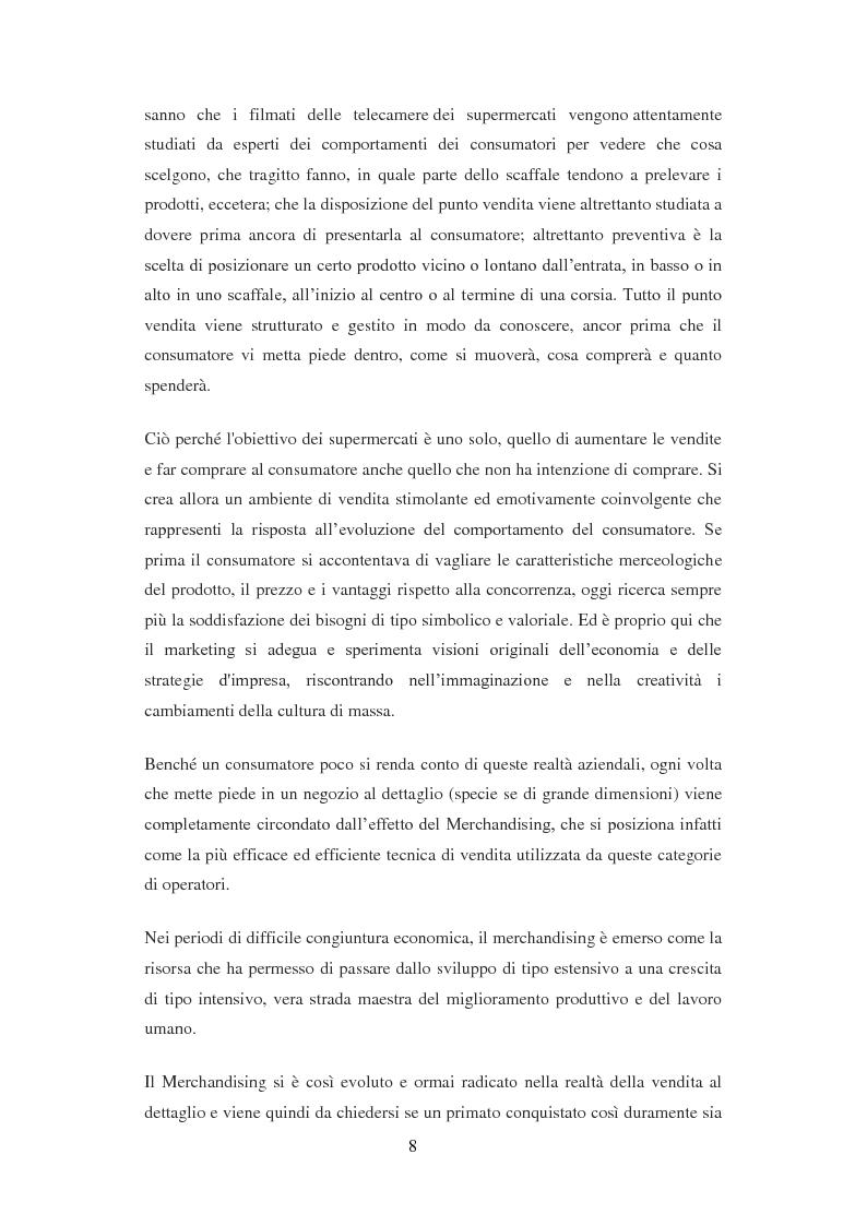 Anteprima della tesi: Mechandising, punto di forza di Unicoop Firenze, Pagina 3