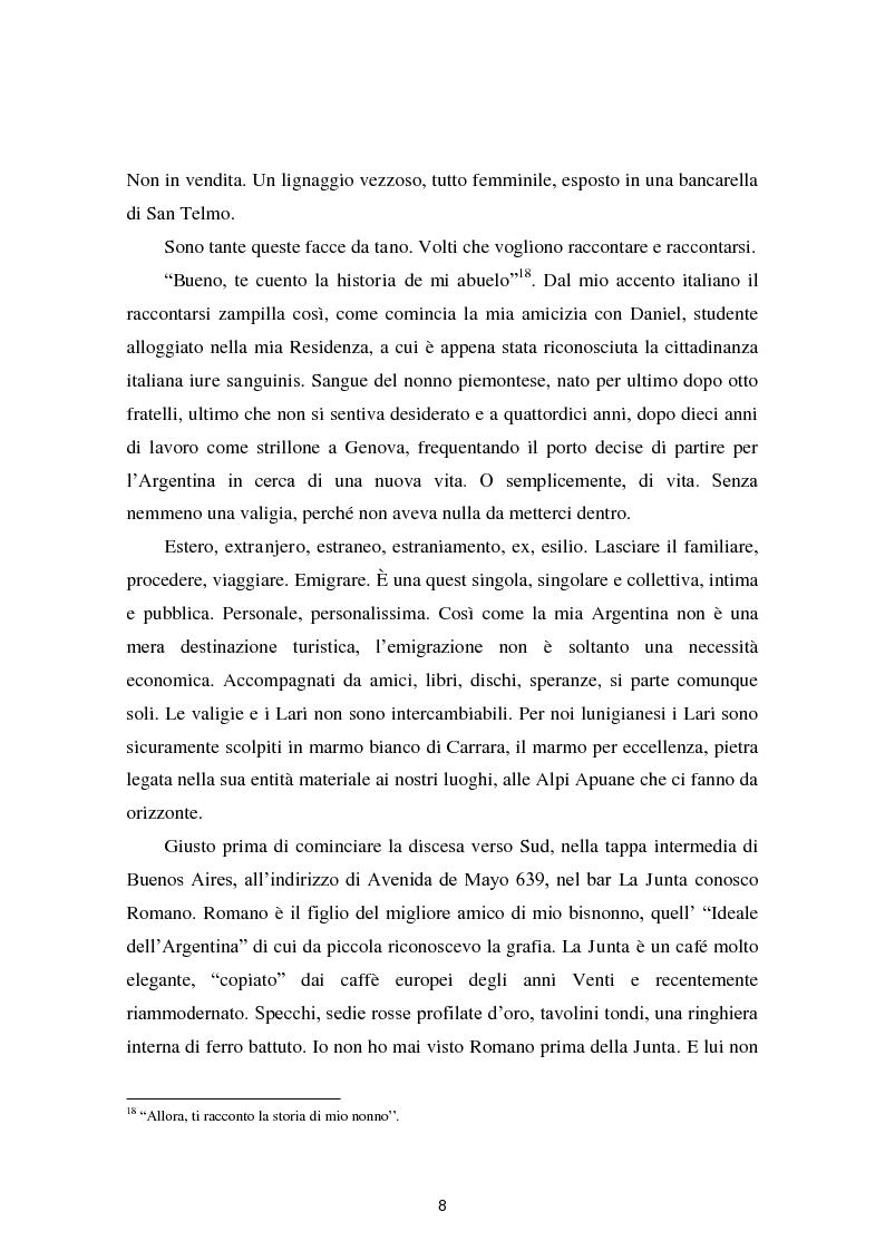 Anteprima della tesi: Dalle Apuane alle Ande: viaggio tra gli aullesi d'Argentina, Pagina 7