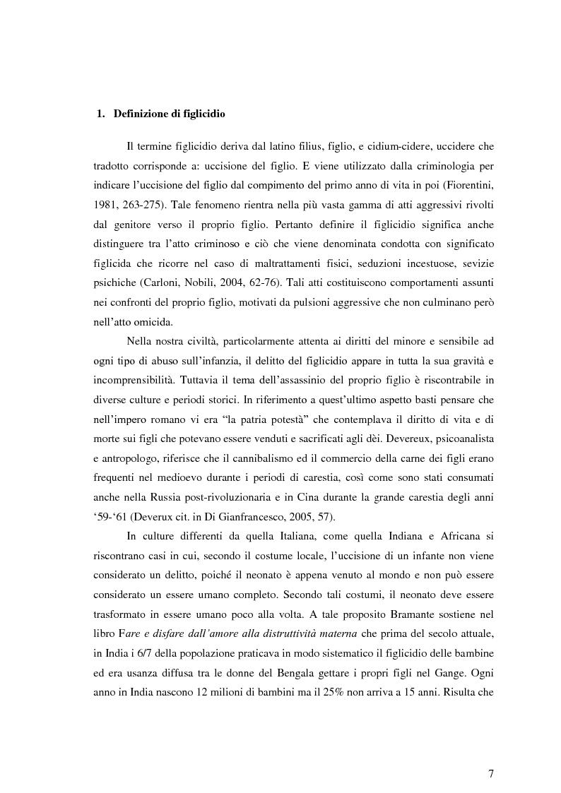 Anteprima della tesi: Ipotesi psicodinamica del figlicidio: Psicosi maniaco-depressiva e distruttività materna, Pagina 4