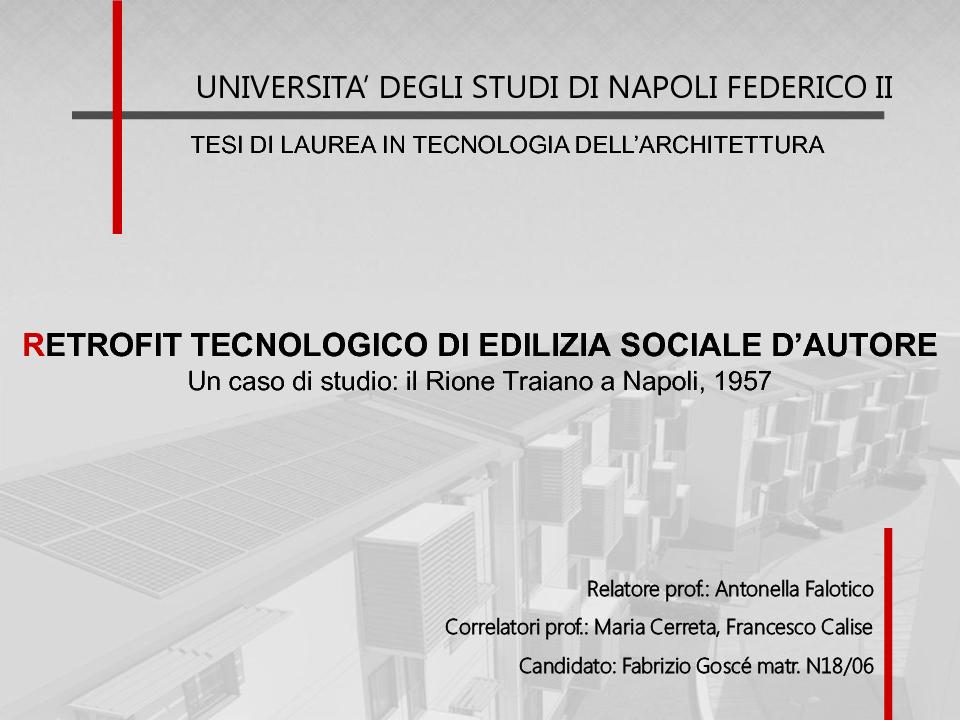 Retrofit Tecnologico Di Edilizia Sociale D Autore Un Caso Di Studio