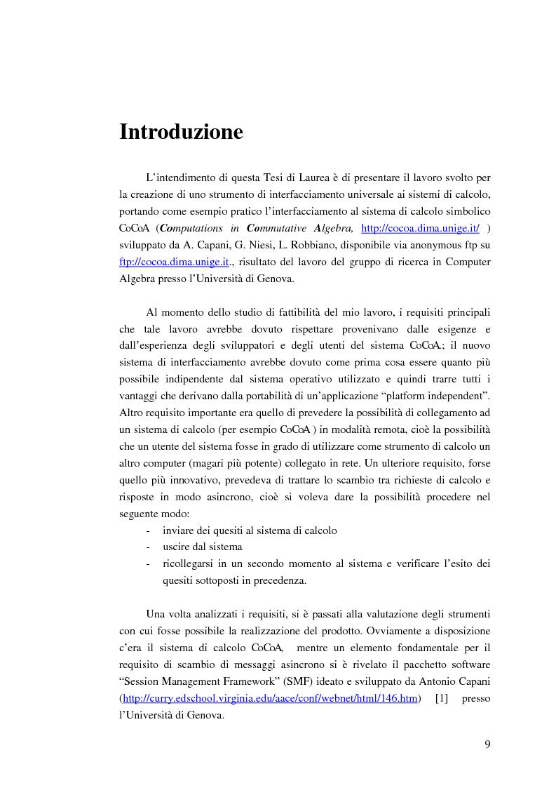 Interfacciamento a sistemi di calcolo simbolico sviluppo for Strumento di progettazione di mobili online