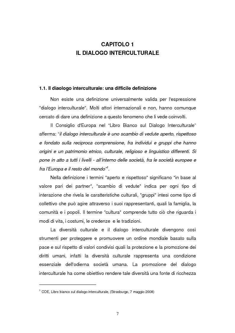 Anteprima della tesi: L'Europa del dialogo interculturale: evoluzione, attori e prospettive, Pagina 4