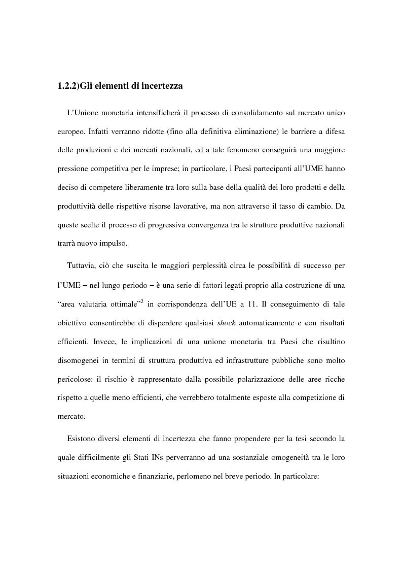 Anteprima della tesi: Le implicazioni della moneta unica europea per i mercati obbligazionari internazionali: un'analisi di medio periodo, Pagina 14