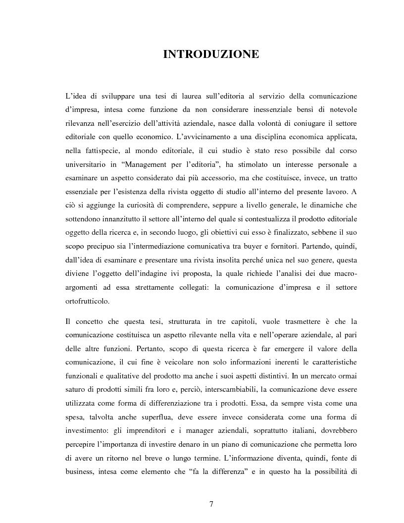 """Anteprima della tesi: Comunicazione e impresa: attori, canali e processi editoriali al servizio del business. Case study: """"Fruitbook"""", Pagina 2"""