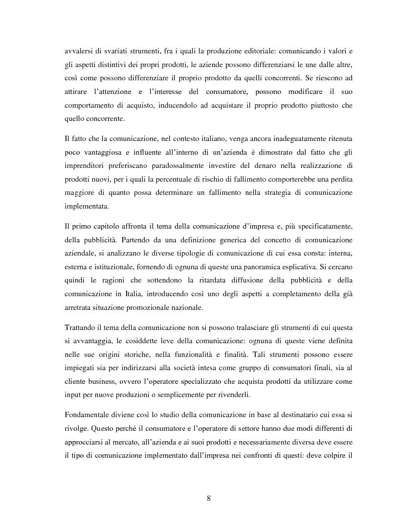 """Anteprima della tesi: Comunicazione e impresa: attori, canali e processi editoriali al servizio del business. Case study: """"Fruitbook"""", Pagina 3"""