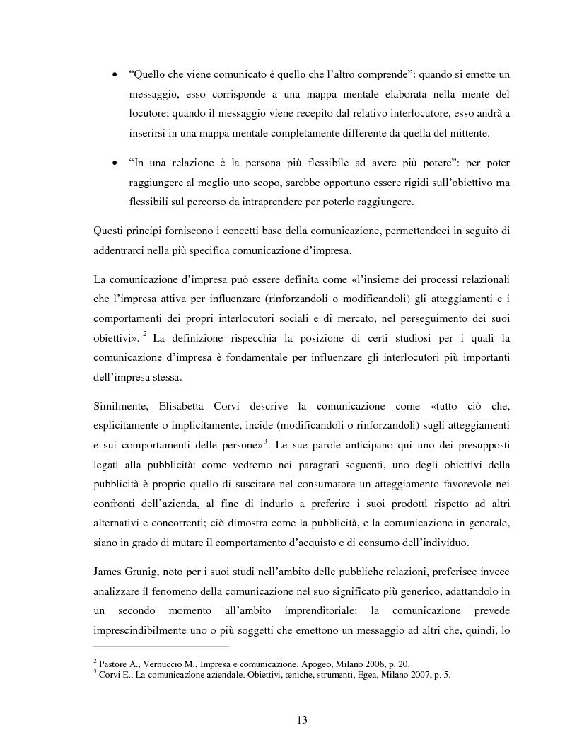 """Anteprima della tesi: Comunicazione e impresa: attori, canali e processi editoriali al servizio del business. Case study: """"Fruitbook"""", Pagina 8"""
