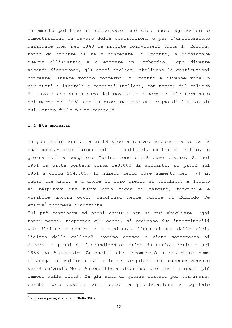 Anteprima della tesi: Il ruolo dei cambiamenti socio - culturali nella creazione di una nuova meta turistica: il caso Torino, Pagina 10