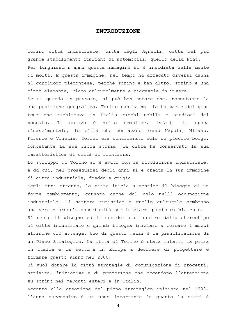 Anteprima della tesi: Il ruolo dei cambiamenti socio - culturali nella creazione di una nuova meta turistica: il caso Torino, Pagina 2