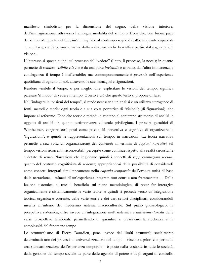 Anteprima della tesi: Vedere il Tempo. Analisi Transtorica e Transculturale dei Sistemi di Temporalità, Pagina 3