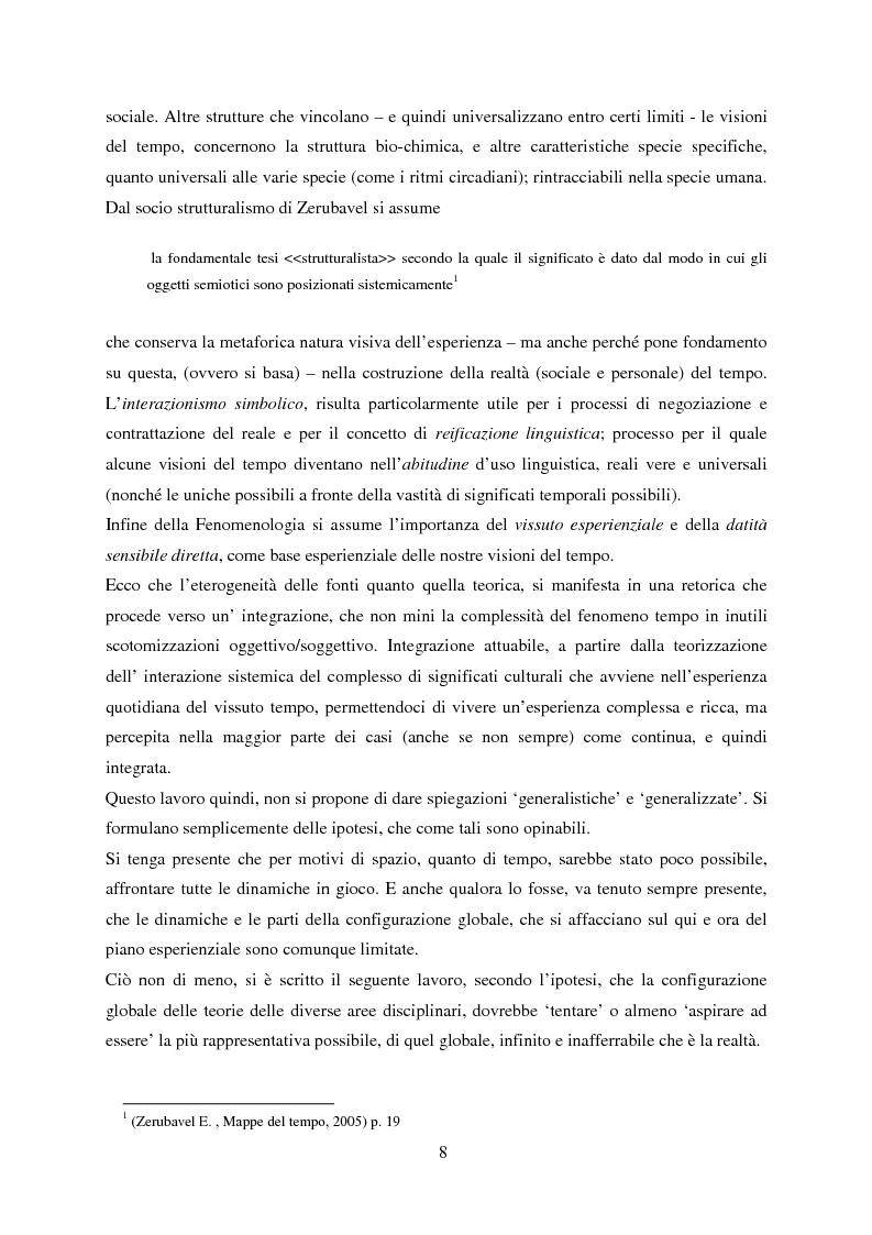 Anteprima della tesi: Vedere il Tempo. Analisi Transtorica e Transculturale dei Sistemi di Temporalità, Pagina 4