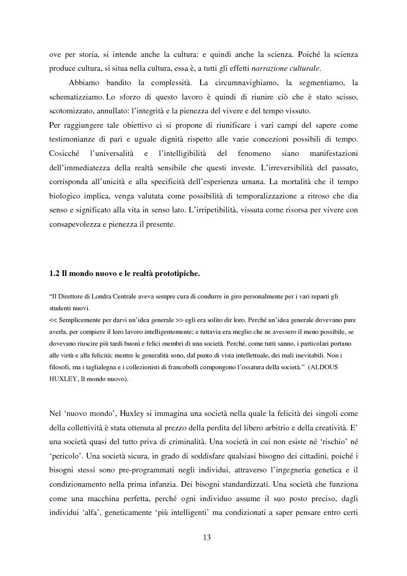 Anteprima della tesi: Vedere il Tempo. Analisi Transtorica e Transculturale dei Sistemi di Temporalità, Pagina 9