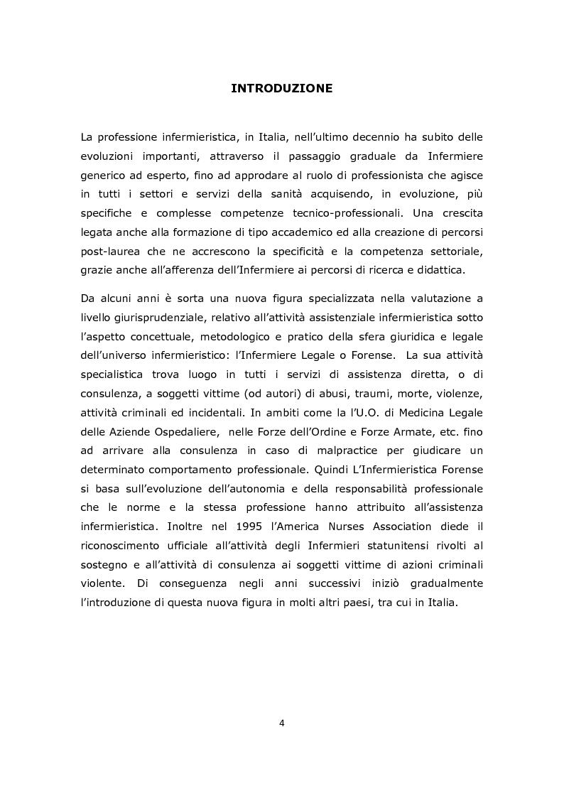 Anteprima della tesi: La gestione e l'approccio dell'infermiere forense alla donna vittima di abusi sessuali, Pagina 2