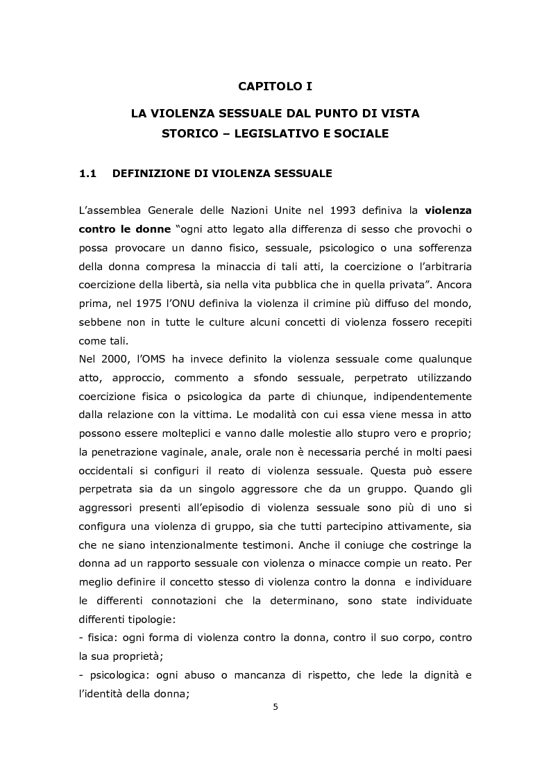 Anteprima della tesi: La gestione e l'approccio dell'infermiere forense alla donna vittima di abusi sessuali, Pagina 3